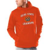 Under Armour Orange Armour Fleece Hoodie-Grandpa