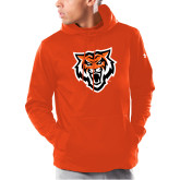 Under Armour Orange Armour Fleece Hoodie-Primary Athletics Mark