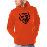 Under Armour Orange Armour Fleece Hoodie-Primary Athletics Mark - One Color