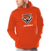 Under Armour Orange Armour Fleece Hoodie-Football