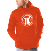 Under Armour Orange Armour Fleece Hoodie-Pharmacy Seal