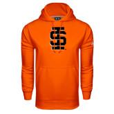 Under Armour Orange Performance Sweats Team Hoodie-Interlocking IS