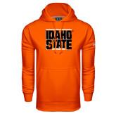 Under Armour Orange Performance Sweats Team Hoodie-Idaho State Block