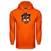 Under Armour Orange Performance Sweats Team Hoodie-Vintage Mascot Head