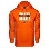 Under Armour Orange Performance Sweats Team Hoodie-Idaho State University Bengals Stacked