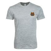 Next Level SoftStyle Heather Grey T Shirt-Bengal Head