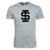 Next Level SoftStyle Heather Grey T Shirt-Interlocking IS