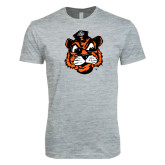 Next Level SoftStyle Heather Grey T Shirt-Vintage Mascot Head