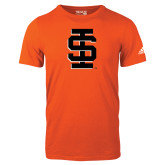 Adidas Orange Logo T Shirt-Interlocking IS