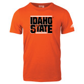 Adidas Orange Logo T Shirt-Idaho State Block