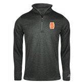 Russell Charcoal Heather 1/4 Zip-Interlocking IS - Two Color