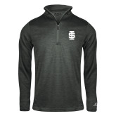 Russell Charcoal Heather 1/4 Zip-Interlocking IS - One Color