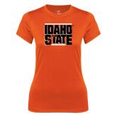 Ladies Syntrel Performance Orange Tee-Idaho State Block
