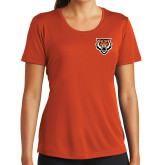 Ladies Performance Orange Tee-Primary Athletics Mark