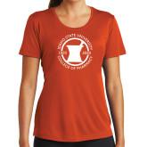 Ladies Performance Orange Tee-Pharmacy Seal