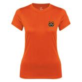 Ladies Syntrel Performance Orange Tee-Bengal Head