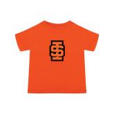 Toddler Orange T Shirt-Interlocking IS - Two Color