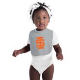 Grey Baby Bib-Interlocking IS - One Color