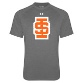 Under Armour Carbon Heather Tech Tee-Interlocking IS - Two Color