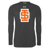 Under Armour Carbon Heather Long Sleeve Tech Tee-Interlocking IS - Two Color