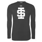 Under Armour Carbon Heather Long Sleeve Tech Tee-Interlocking IS - One Color