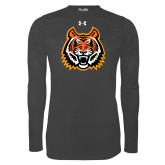 Under Armour Carbon Heather Long Sleeve Tech Tee-Bengal Head