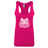 Next Level Ladies Raspberry Ideal Racerback Tank-Bengal Head
