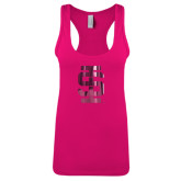 Next Level Ladies Raspberry Ideal Racerback Tank-Interlocking IS Foil