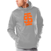 Under Armour Grey Armour Fleece Hoodie-Interlocking IS - One Color