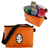 Six Pack Orange Cooler-Interlocking IS - 2 Color