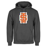 Charcoal Fleece Hoodie-Interlocking IS - Two Color