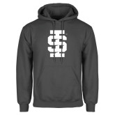 Charcoal Fleece Hoodie-Interlocking IS - One Color