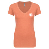 Next Level Ladies Vintage Orange Tri Blend V Neck Tee-Pharmacy Seal