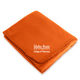Orange Arctic Fleece Blanket-Idaho State University College Pharmacy