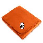 Orange Arctic Fleece Blanket-Interlocking IS - 2 Color