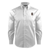 Red House White Dobby Long Sleeve Shirt-Interlocking IS