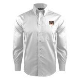 Red House White Dobby Long Sleeve Shirt-Idaho State Block