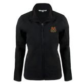 Ladies Black Softshell Jacket-Bengal Head