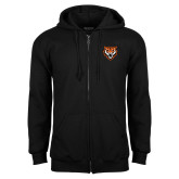 Black Fleece Full Zip Hoodie-Primary Athletics Mark