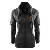 Ladies Sport Wick Stretch Full Zip Black Jacket-Bengal Head