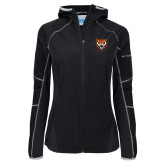 Columbia Ladies Sweet As Black Hooded Jacket-Primary Athletics Mark