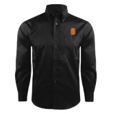 Red House Black Herringbone Long Sleeve Shirt-Interlocking IS