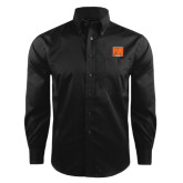 Red House Black Herringbone Long Sleeve Shirt-Idaho State Block