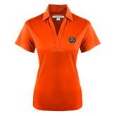 Ladies Orange Performance Fine Jacquard Polo-Bengal Head