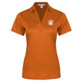 Ladies Orange Performance Fine Jacquard Polo-Pharmacy Seal