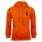 Orange Fleece Hood-Interlocking IS
