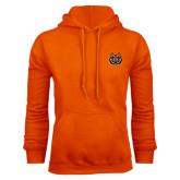 Orange Fleece Hoodie-Bengal Head