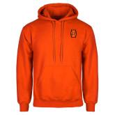 Orange Fleece Hoodie-Interlocking IS - Two Color