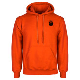 Orange Fleece Hoodie-Interlocking IS - One Color