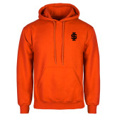 Orange Fleece Hoodie-Interlocking IS